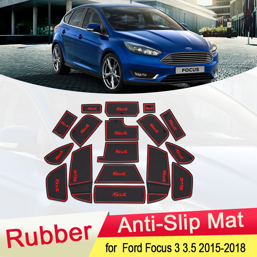 For Ford Focus RS ST MK3 Carbon fiber ABS Gearshift outer frame Cover 2015-2018