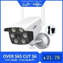 1080P 2MP 4MP WIFI IP Cámara al aire libre ONVIF cámara inalámbrica a prueba de agua App alarma Color Visión Nocturna tarjeta TF Hiseeu