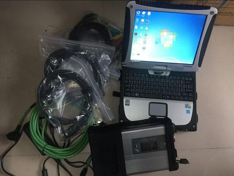 Mb sd c5 с программным обеспечением hdd 2021,03 в установке в б/у ноутбук cf-19 4G toughbook cf19 работа для mb star c5 инструменту диагностики