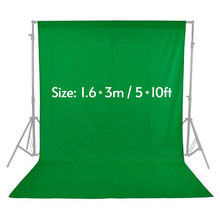 1.6 x 3M / 5 x 10FT Photography Studio Non-woven Backdrop Background Screen 3 Colors Option Black White Green Photo Background