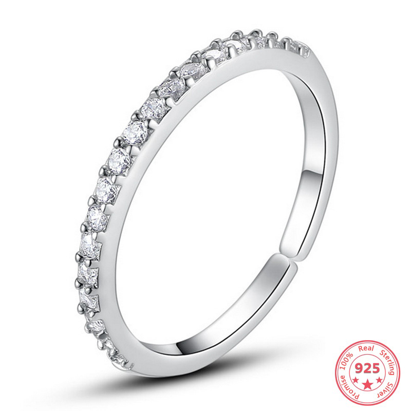 925 Silver Color Diamond Open Ring for Women Anillos Bizuteria Fine Jewelry anillos mujer bijoux femme Gemstone ring silver 925