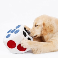 HOT Pet Dog Plush Dice Toy Food Dispenser Treat Puzzle Toy for Puppy Dog Intellegent Training Toy Food Leaking Playing Plush Dic