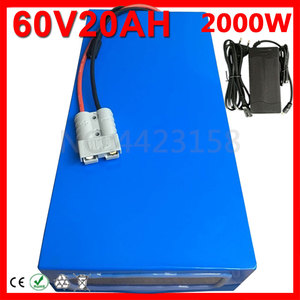 No Tax 60V 1500W 2000W 2500W Lithium Battery Pack 60V 10Ah 12Ah 13Ah 15Ah 18Ah 20Ah Electric Bike Li-ion Scooter Battery+Charger(China)