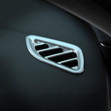 ABS Car Dashboard Air Conditioning Outlet Frame Decoration Sticker ForAudi A6L 2012 2013 2014 2015 2016 Interior Auto Accessori abs chrome trim air conditioning outlet decoration circle for ford kuga 2013 2014