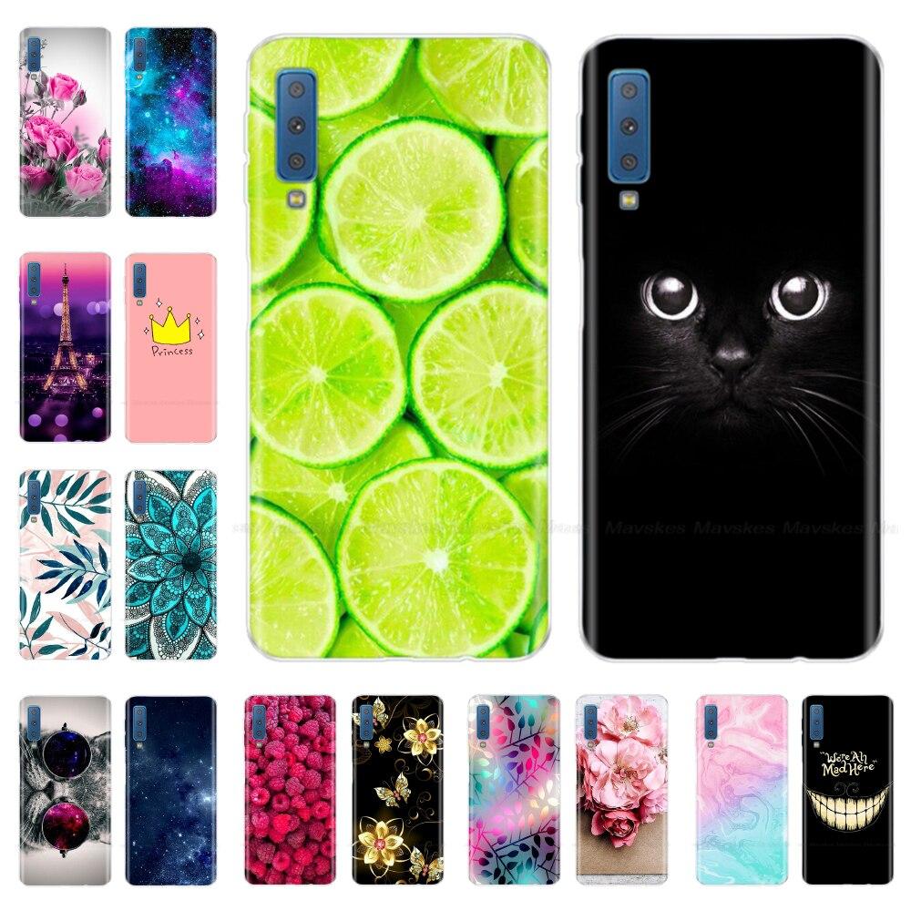 Silicone Cover For Samsung Galaxy A7 2018 Case A750 A750F Case 6.0' TPU Phone Case For Samsung A 7 2018 750 750F Fundas Coque