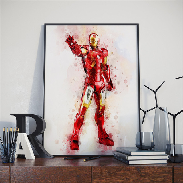 Superheroes Watercolor Poster (16 Different Designs) 13