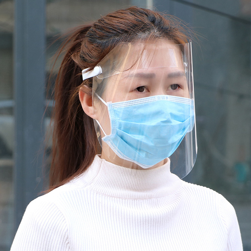Transparent Anti-droplet Mask Plastic Protective Cap Rotective Faceshield Cover Visor Dust Proof Anti Saliva Fog Full Screen