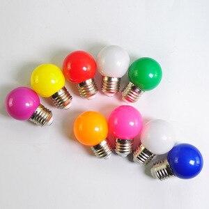 Image 2 - Led Bulb E27 led Lamp Bomlillas AC 220V 3W Colorful Globe Lampada 2835 SMD Led Light Flashlight 3W G45 Led Home lighting 20pcs