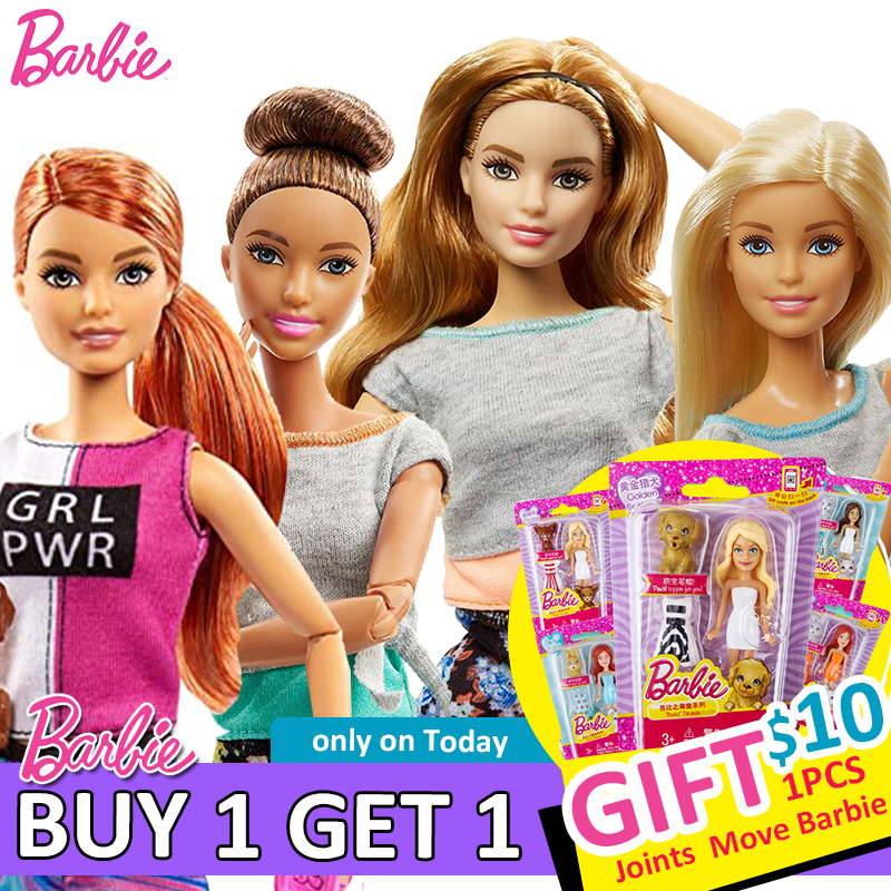 Original Jointed Move Barbie Dolls With Barbie Clothes And Accessories Toys For Girls Barbie Brinquedo Baby Boneca Toy For Kids