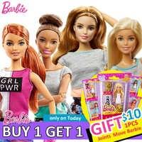 Original articulado mover bonecas barbie com roupas barbie e acessórios brinquedos para meninas barbie brinquedo bebê boneca brinquedo para crianças