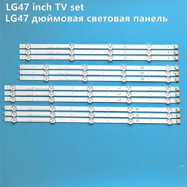 "12 pcs LED Backlight Lamp strip For LG 47""TV 6916L 1259A 6916L 1260A 6916L 1261A 6916L 1262A LC470DUE SF R1 R2 R3 R4 U1 47LA6210"
