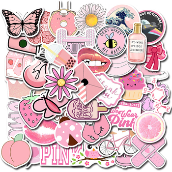 50PCS Cartoon Pink VSCO Stickers For Chidren Toy Waterproof Sticker DIY Suitcase Laptop Bicycle Helmet Car Decals Girl F4 - discount item  40% OFF Classic Toys