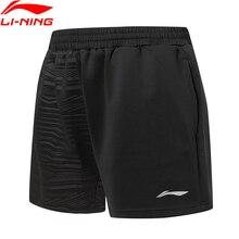 Li-Ning мужские шорты для соревнований по бадминтону 87% полиэстер 13% спандекс Обычная посадка спортивные шорты брюки AAPP323 COND19