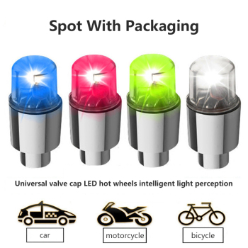 Car Auto Wheel Tire Tyre Air Valve Stem LED Light Cap Cover Accessories Top LED Bicycle Car Wheel Lights Flash Tire Spoke Lights image