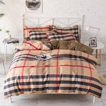 Lattice Beddingset Duvet Cover Bed Sheet Pillowcase Polyester Brief Full King Queen Tiwn Beding