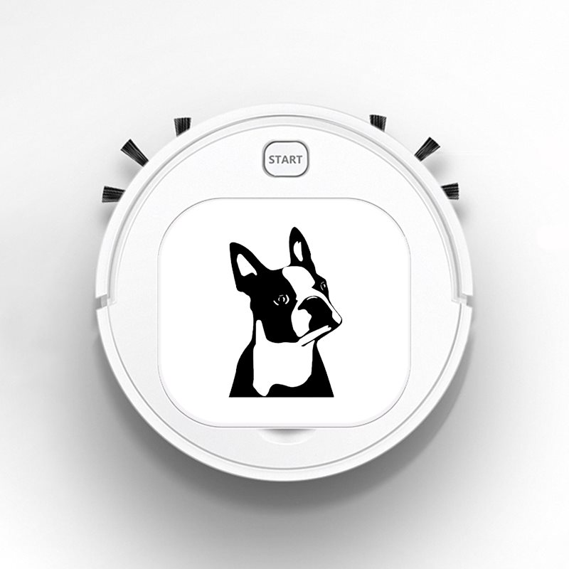 Robot Vacuum Cleaner Intelligent Automatic Mopping Clean Robot for Hard Floor Carpet Cute Boston Terrier Dog