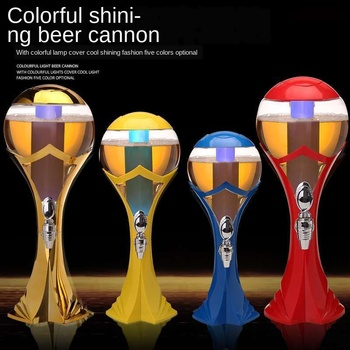 Wine Bubble Maker with Tap Beer Keg Shining jiu pao Commercial Use 3 Litres Beverage Beer Imported Wines Liquor Divider Bar Only