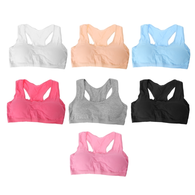 Cotton Young Girls Kid Underwear For Sport Wireless Small Training Puberty Bras