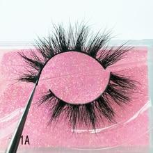 Mink-Lashes Makeup Dramatic Fluffy SHIDISHANGPIN Natural 100%Real 3D 1-Pair 41A