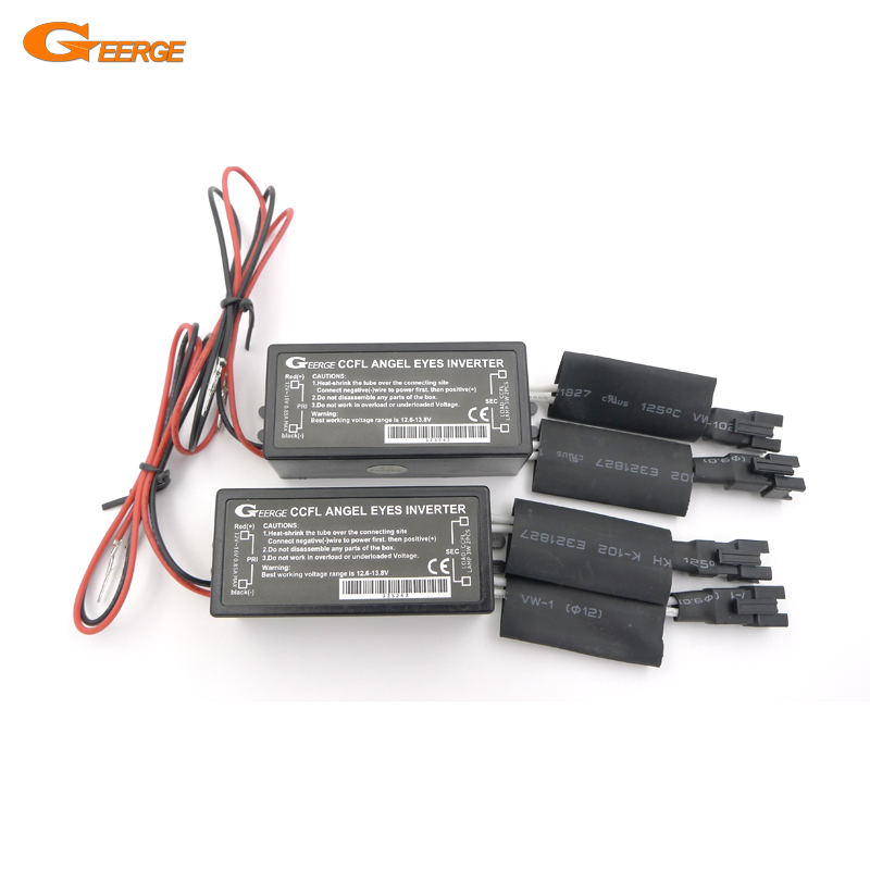Geerge Excellent 2 Pcs Inverters Ballast For CCFL Angel Eyes Halo Rings High Brightness & Low Consumption