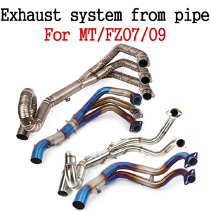 For MT09 FZ-09 MT-07 FZ07 2014-2019(not for Tracer) Modified Motorcycle Front Exhaust Muffler pipe Full System tube moto Slip-on