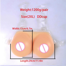 2020 Silicone Fake Boobs 1200g/pair Beige Artificial Silicon Breast Forms Mastectomy Crossdresser Breasts Drag Queen Shemale