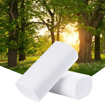 10 Roll 4ply White Toilet Tissue Hollow Replacement Roll Paper Clean Cleaning Toilet Tissue Soft Toilet Paper