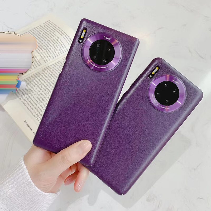 Luxury Imitation Leather Phone Case For P40 P40pro P30 P30pro Mate30 Mate30pro Lens Protection Cover Coque Funda Shell