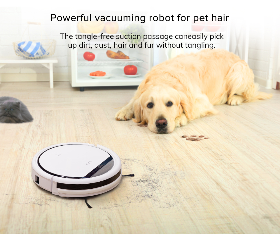 H071cdac67b99475c94a23bec57c8fb54G ILIFE V3s Pro Robot Vacuum Cleaner Home Household Professional Sweeping Machine for Pet hair Anti Collision Automatic Recharge