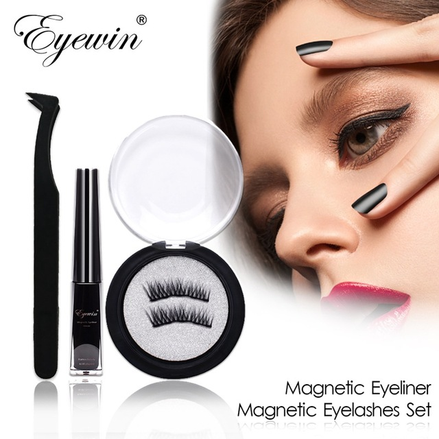 Magnetic Eyeliner & Magnetic Eyelashes Makeup Set Waterproof Liquid Eyeliner with Reusable False magnetic Lash for dropshipping 1