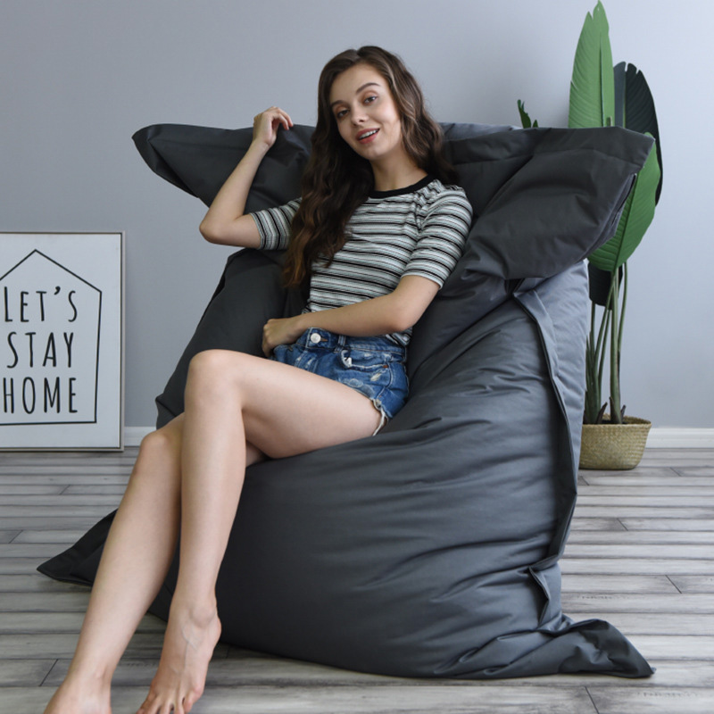Square Large Lazy BeanBag Sofa Cover Chairs Without Filler Oxford Cloth Lounger Seat Bean Bag Pouf Puff Couch Tatami Living Room