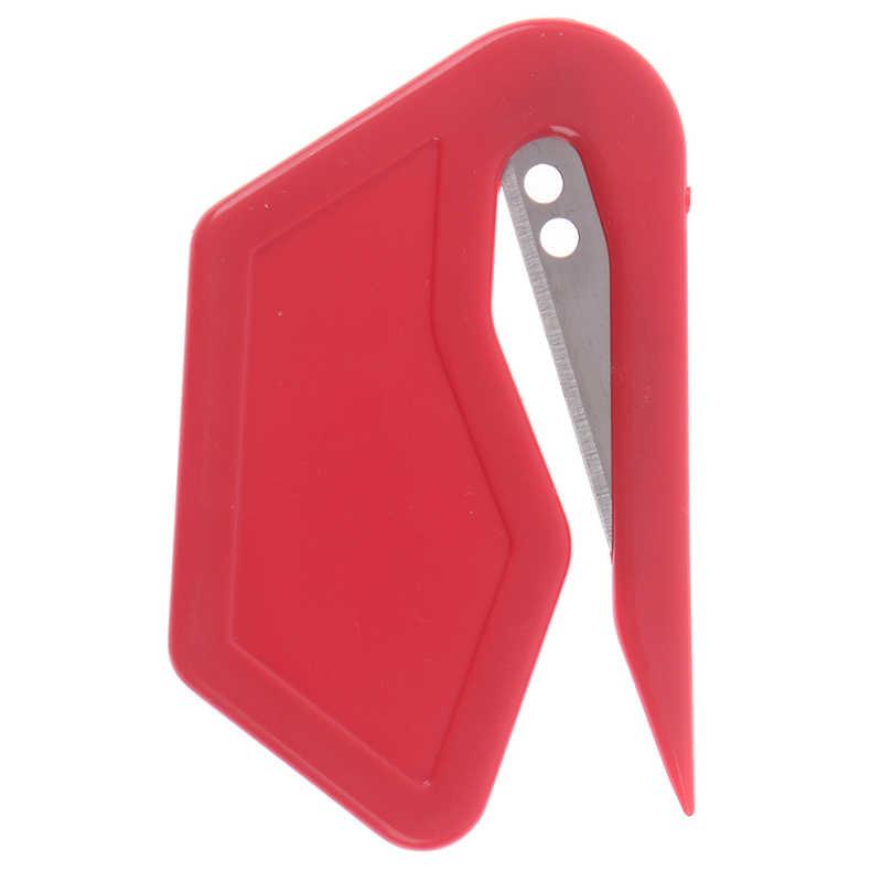 1/2Pcs/Banyak Plastik Pembuka Surat Mini Tajam Surat Mail Pembuka Amplop Safety Kertas Dijaga Cutter Peralatan Kantor