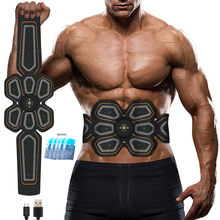 Abs Stimulator Muscle Toner EMS Presse Trainer Bauch Elektrostimulation USB Aufgeladen Fitness Hause Workout Muscle Toning Gürtel(China)