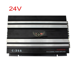 24V DC Van Car Amplifier 4 Channel MOSFET Vehicle Truck Power Stereo Push Sub woofer Hifi Active Speaker Booster