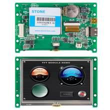 Сенсорный ЖК-экран TFT 4,3 дюйма с программным обеспечением для графического дисплея и кнопочного управления