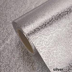 Image 4 - 40x100cm szafka kuchenna naklejka ścienna anty olejowa wodoodporna aluminiowa naklejka foliowa ochrona mebli naklejki ścienne z PVC