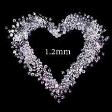 1.2 مللي متر مجموع 1 قيراط FG اللون الجولة الرائعة كربيد سيليكون مقطع فضفاض حبة سوار مجوهرات خاتم الماس المواد