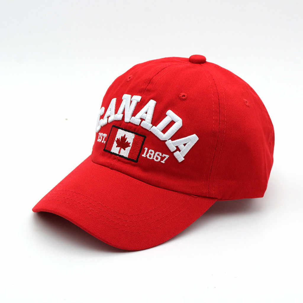 """""""كندا"""" إلكتروني التطريز قبعات الصيف قبعات البيسبول للرجال قبعة الشمس حماية الرياضة في الهواء الطلق قبعات 2019 fashion"""