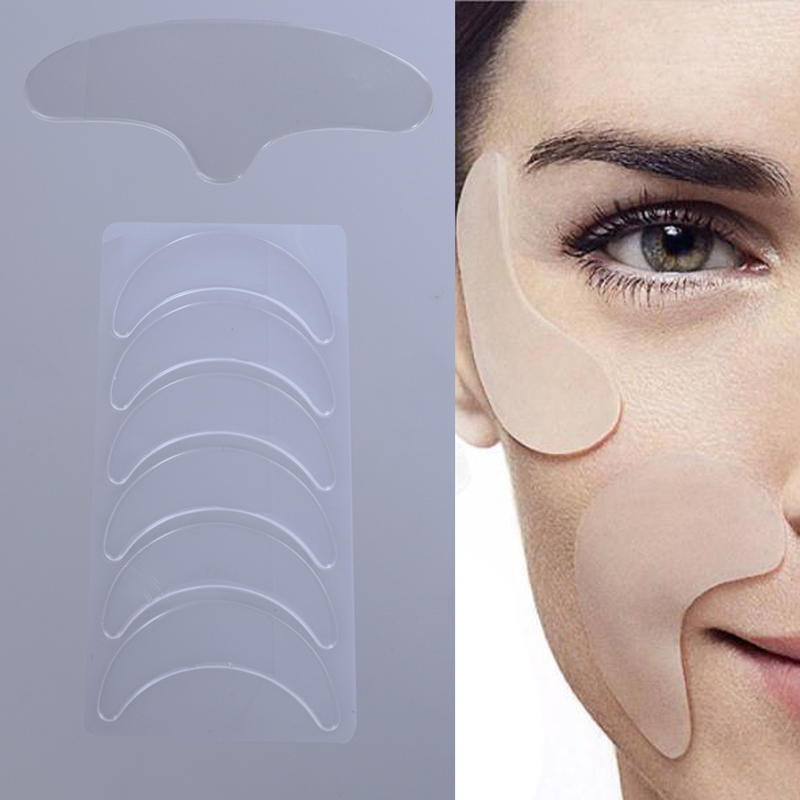 Face Eye Neck Anti Wrinkle Lines Lifting Tightening Silicone Pad Eye Wrinkle Removal Pads Sticker Reusable Skin Care