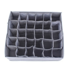 Multifunctional foldable non-woven bamboo charcoal tie towel underwear socks drawer type wardrobe storage box