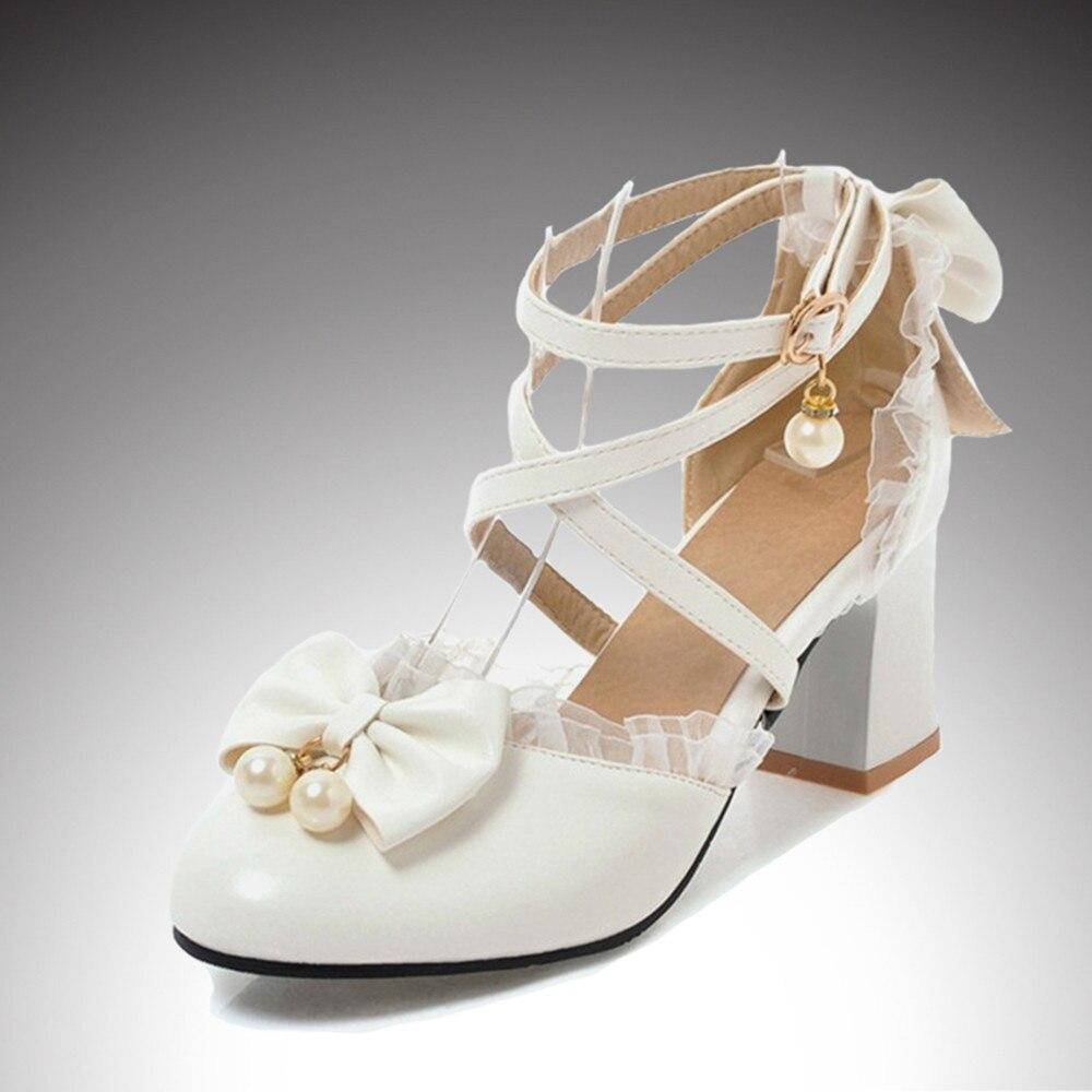 Teen Girls High Heels Shoes Pink White Princess Girls Dress Shoes Summer Girls Party Shoes  X#12/10D50