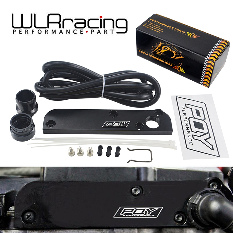 WLR RACING-Billet PCV 삭제 플레이트 키트 Revamp Adapter for Volkswagen (VW)/Audi/SEAT/Skoda EA113 엔진 (PQY 로고 포함) TSB01