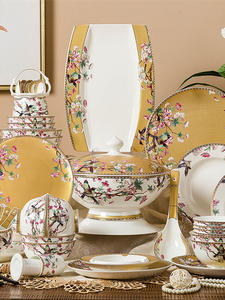 Dish-Set Bowls Tableware Korean-Ceramics China Nordic Jingdezhen Enamel