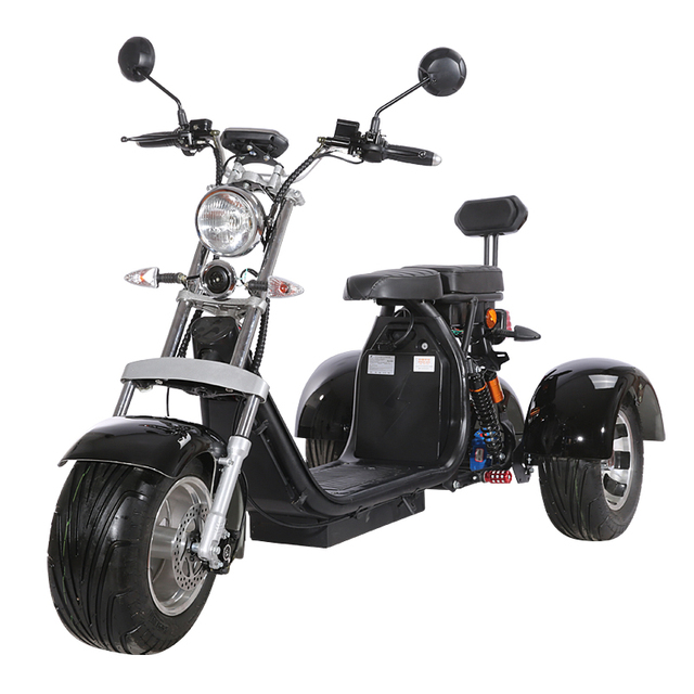 3 Wheel Citycoco Electric Motorcycle Electric Tricycles Adult Icluding EU Customs No Taxes 60V 20ah Removable Lithium Battery 1