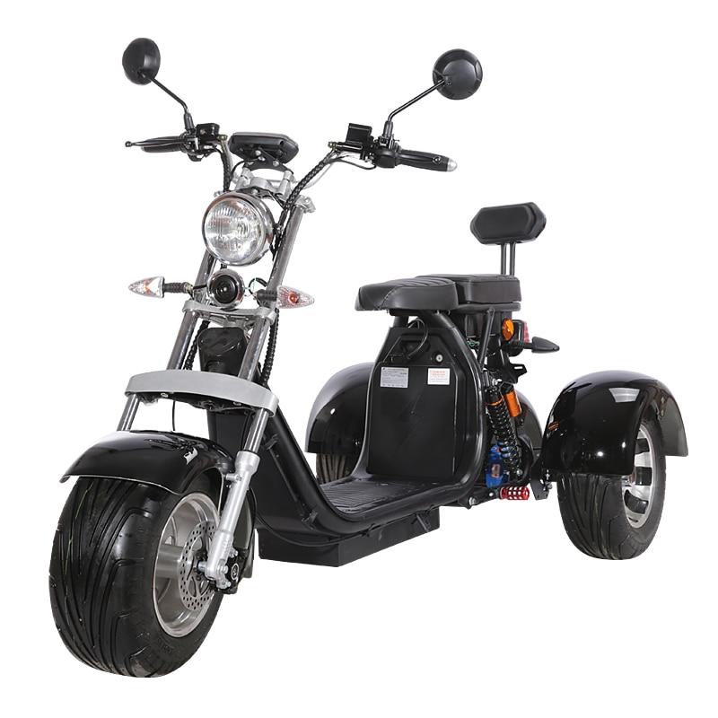 3-Х Колесный Электрический мотоцикл Citycoco Электрический трехколесный велосипед для взрослых входит ЕС таможни не Налоги 60V 20ah съемный литий ...