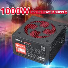 1000W alimentation PFC ventilateur silencieux ATX 20pin 12V PC ordinateur SATA Gaming PC alimentation pour ordinateur Intel AMD