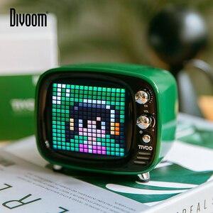Image 1 - Divoom Tivoo נייד Bluetooth רמקול חכם שעון מעורר פיקסל אמנות DIY על ידי App LED אור סימן ב קישוט מתנה ייחודית
