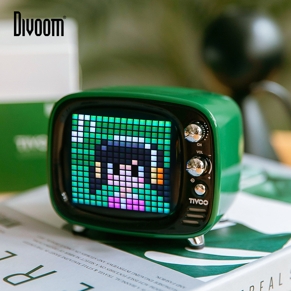 Divoom Tivoo Portable Bluetooth speaker Smart Clock Alarm Pixel Art DIY by App LED Light Sign in decoration Unique gift