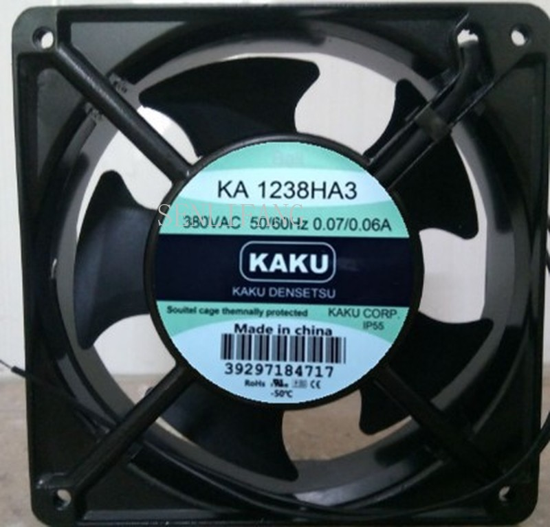 For Kaku KA1238HA3 AC 400V 0.07A 120x120x38mm Server Cooler Fan