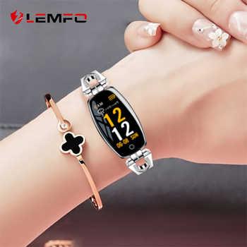 Reloj inteligente LEMFO H8 para mujer, 2019, a prueba de agua, monitor de ritmo cardíaco, Bluetooth para Android IOS, pulsera de Fitness, reloj inteligente